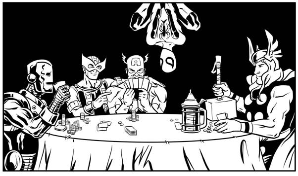 The Avengers try to Play Poker